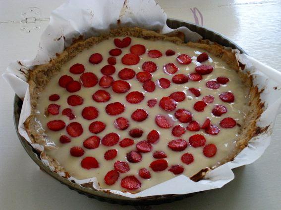 La tarte aux fraises de la flemmarde (moi) sans gluten sans lait