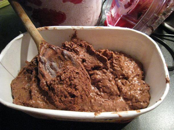 Glace chocolat pralin sans gluten sans lait