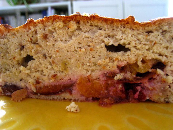 Gâteau amandin aux quetsches sans gluten