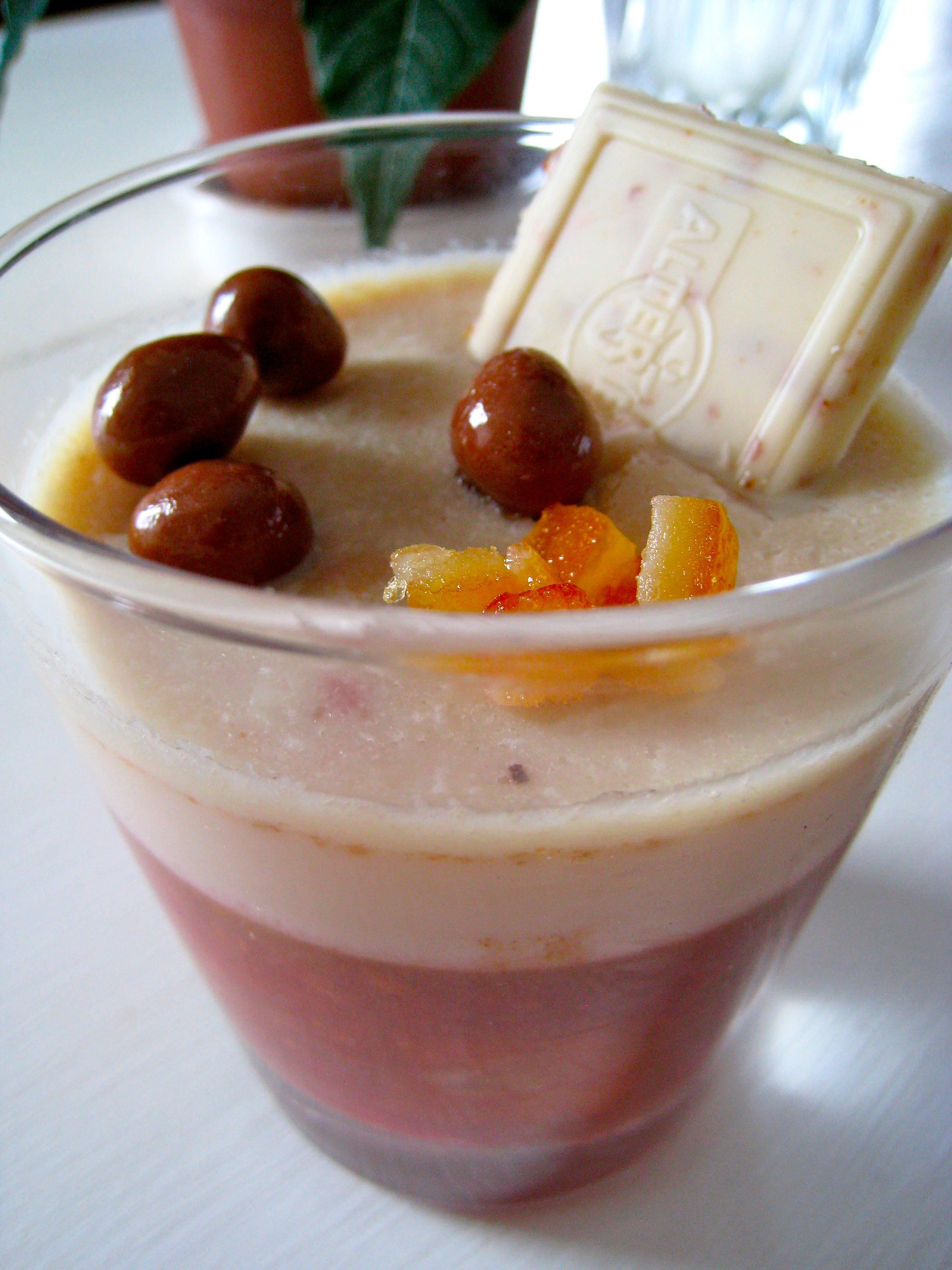 Aspic de fruits et sa pannacotta au chocolat sans gluten sans lait