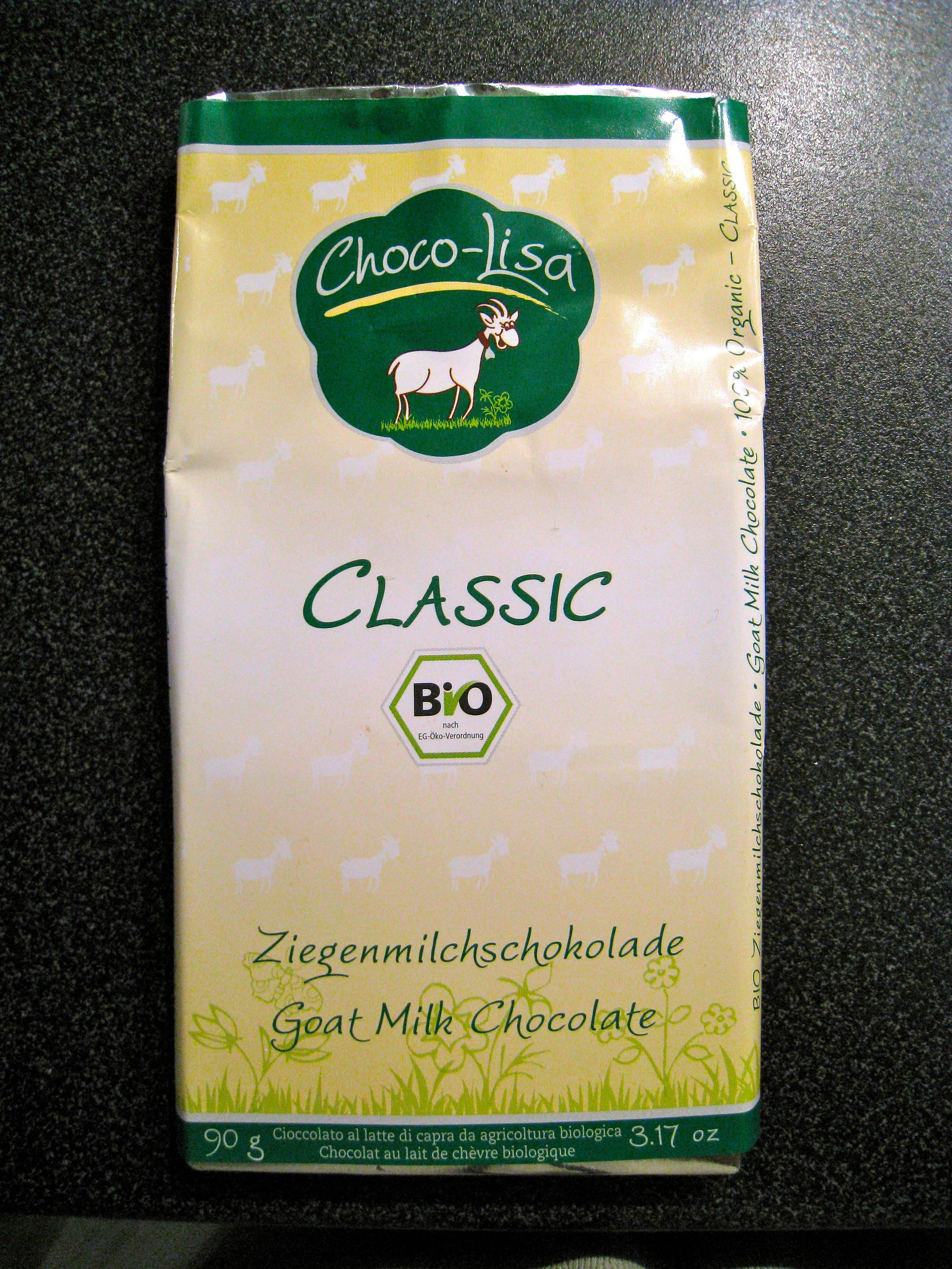 Chocolat au lait de chèvre