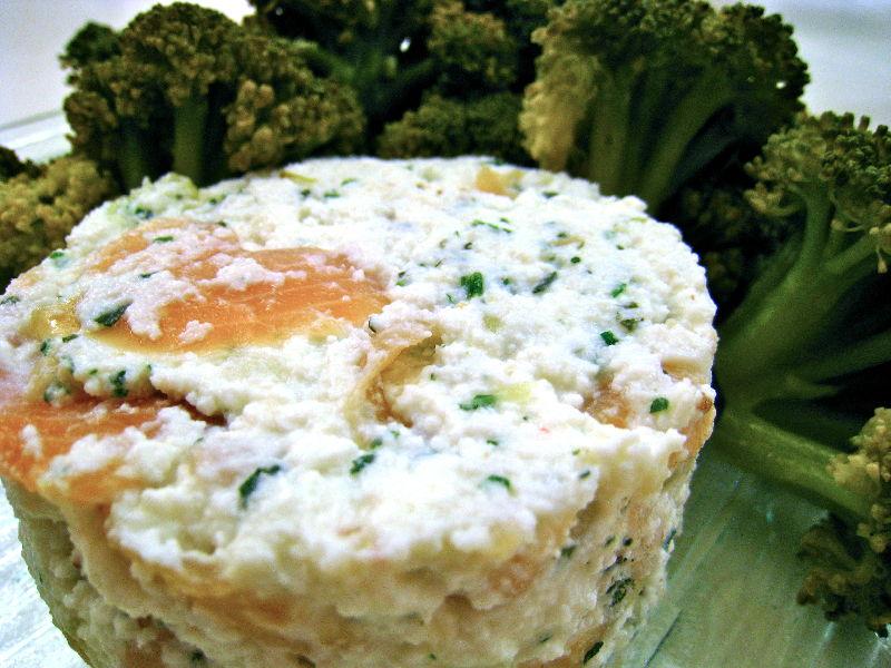 Brousse au saumon et ses brocolis