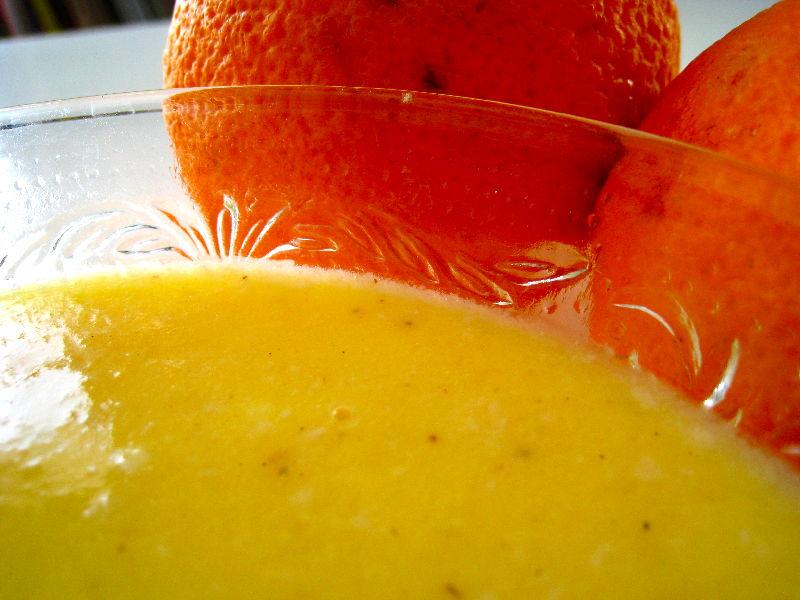 Crème à l'orange sans lait