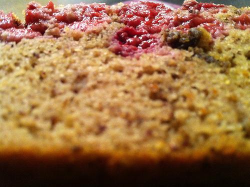 Cake amandes-framboises