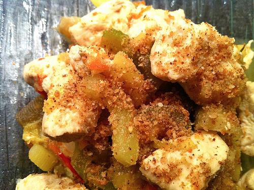 Poêlée de légumes au poulet