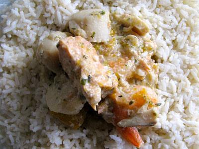 Blanquette de poissons au lait de coco sans gluten ni lait