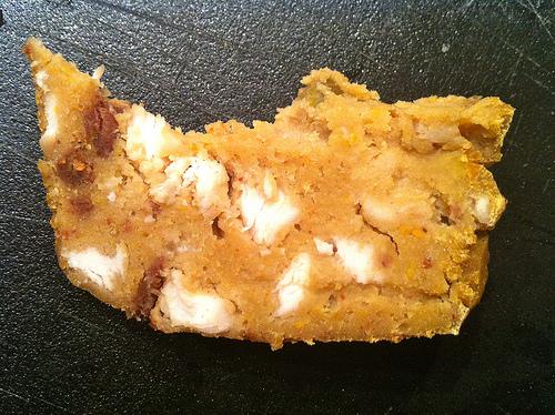 Part de cake korma courge et poulet