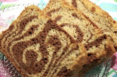 Marbré chocolat-cacahuète sans gluten - tranche