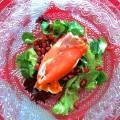 Quenelle de saumon fumé au fromage de chèvre