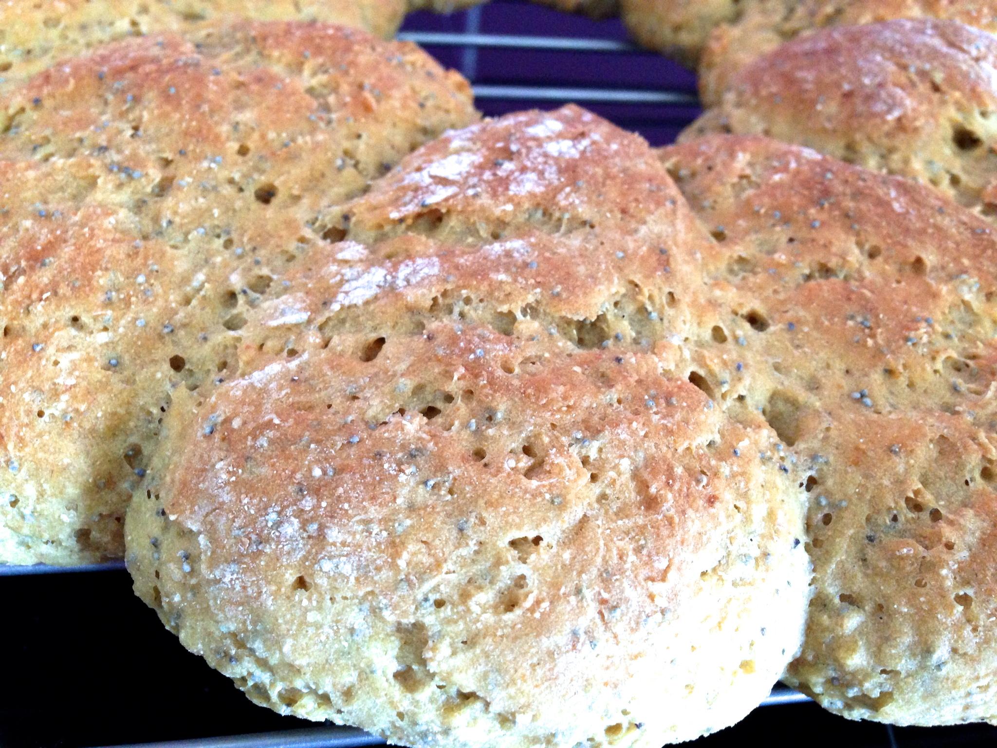 Pain farine de soja et pavot