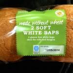 Soft white baps - gluten free