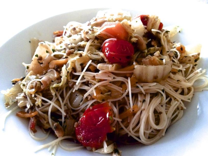 Poêlée de légumes et vermicelles de riz