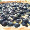 Tarte aux myrtilles close up