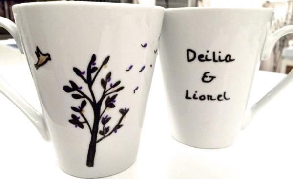 DIY : Deux jolies tasses pour deux très beaux mariés