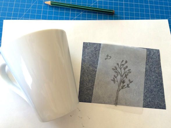 Tasses décorées - peinture porcelaine tuto
