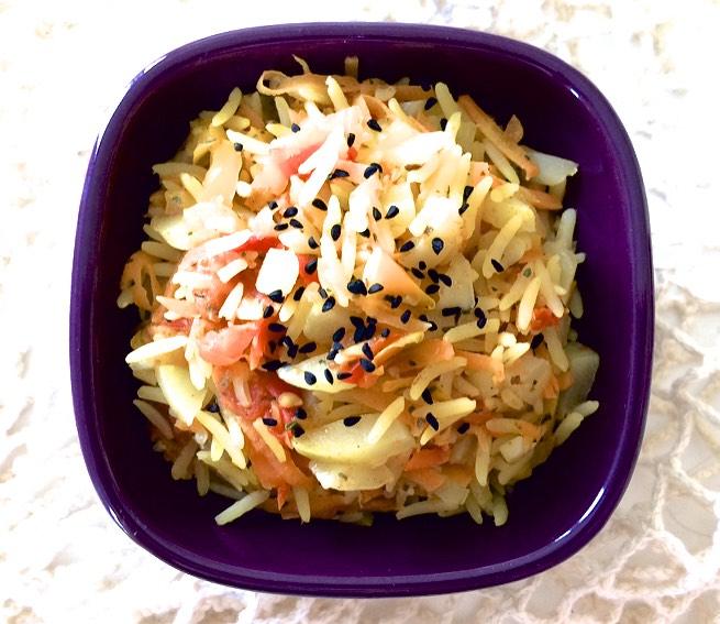 Poêlée de légumes tendance indienne (végétarien, sans gluten)