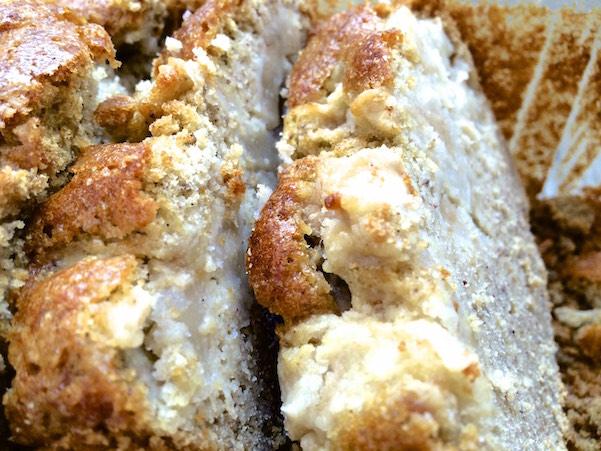Cake poire pistache - tranche