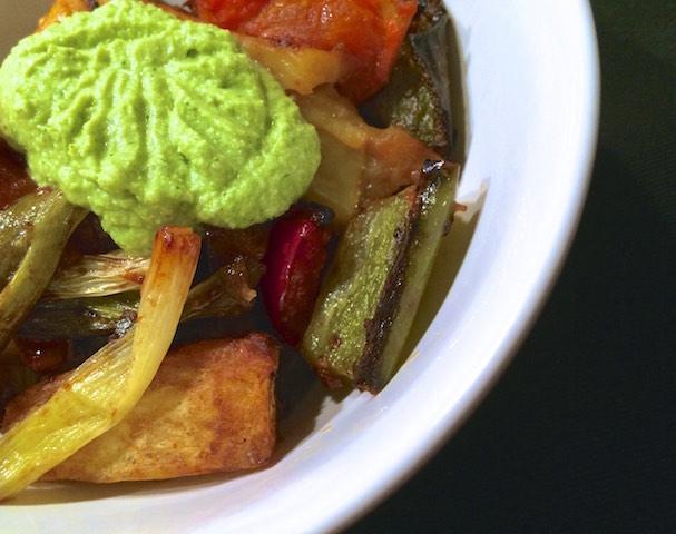 Légumes rôtis et Frecious Dainty Tarragon